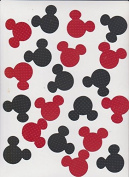 Die Cuts - Disney Mickey Mouse Heads Red/Black Polka Dot Bazzill - 20piece