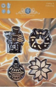 Lin & Lene Designs Christmas - Set of 4 Dies for Cutting and Embossing 1201-0030