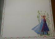 Frozen 12x12 Scrapbook Paper White w/Flowers Anna & Elsa - 3 Sheets