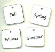 White/ Word Tiles - Seasons