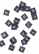 Blue Fabric Alphabet Letter Embellishments