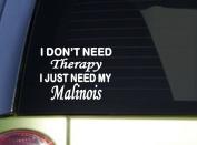 Belgian Malinois Therapy *J052* 15cm dog sticker decal