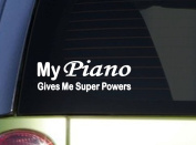 My Piano Gives Superpower *J024* 20cm Sticker decal
