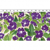 1 Yard Cultivate Your Joy by Peg Conley from Clothworks 100% Cotton Quilt Gardening Fabric Y1435-27 Purple