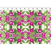 1 Yard Cultivate Your Joy by Peg Conley from Clothworks 100% Cotton Quilt Gardening Fabric Y1433-78 Dark Fuchsia