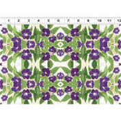 1 Yard Cultivate Your Joy by Peg Conley from Clothworks 100% Cotton Quilt Gardening Fabric Y1433-27 Purple