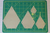 Jewel Quilting Template Set, 10cm , 7.6cm , 5.1cm , 2.5cm with 0.6cm Seam Allowance