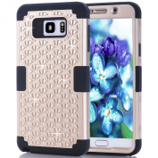 Note 5 Case,SAVYOU Diamond Studded Crystal Rhinestone 3 in 1 Hybrid Shockproof Cover Silicone Silicone and Hard PC Case For Samsung Galaxy Note 5