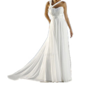 Simple One Shoulder Chiffon Beach Wedding Dresses