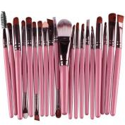 Kingfansion 20pcs/set Makeup Brush Set Tools Make-up Toiletry Kit Wool Make up Brush Set