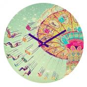 DENY Designs Shannon Clark Swinging Through Stars Round Clock, 30cm Round
