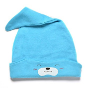Great Deal 1 Pcs Baby Cotton Beanies Warm Sleep Hat,Blue