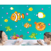 Fishes Turtles Sea Wall Decal PVC Home Sticker House Vinyl Paper Decoration WallPaper Living Room Bedroom Kitchen Art Picture DIY Murals Girls Boys kids Nursery Baby Playroom Decor