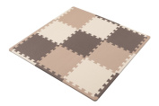 Safe antibacterial mat 9 Disc Brown with border in CB Japan Anshin
