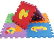 (Smile Wakiki) Smile YKK baby soundproof mat joint mat soft mat combination mat baby mat animal pattern mat 10 sheets