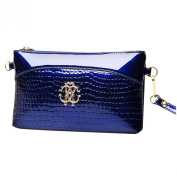 BAOFASHION Women's Crocodilian Grain PU Elegant Wrist Bag Shoulder Bag