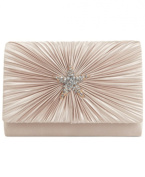 Sasha Satin Evening Clutch