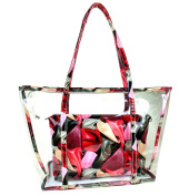 Sulida Jelly Transparent Sweet Outdoor Pu Leather Beach Shoulder Bag PVC Travel Tote with Interior Pocket