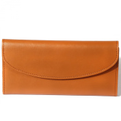 H & J Women's Genuine Leather Long Wallet Clutch Purse Handbag
