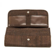 Cork Wallet Brown Women's Vegan Gift Bi-Fold, ID Window