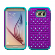 Galaxy S7 Edge Case,Voberry® Shock Proof Bling Rhinestone Rubber Impact Armour Case for Samsung Galaxy S7 Edge