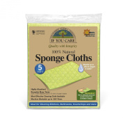 IF YOU CARE 100% Natural Sponge Cloths, 5 Count - Pack of 3
