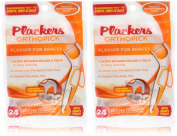 Plackers Orthopick Flosser for Braces/4pk