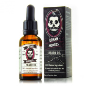 Beard Oil by Urban Nomads - Hand Crafted in Barcelona - All Natural Balm & Leave-In Conditioner for all Beard Styles, Moustache, and Hair - Beard Softener - Anti Itch, Anti Dandruff, Anti Fungal - 30ml