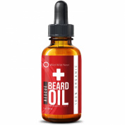 Organic Beard Oil - 100% Certified Organic - Pure Natural Unscented - Conditions & Nourishes Groomed Beards, Moustache, Face and Skin - Soothes Itch and Dryness, Protects with Aloe
