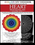 Color My Moods Coloring Books for Adults, Day and Night Heart Mandalas, Volume 3