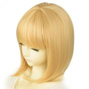 "Liz Wig Gatsby 1920's Medium Long Straight Flapper Bob Heat Friendly Cosplay Party Costume Hair Wig 35cm 14"""