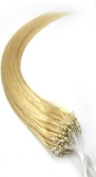 #613 Blonde Micro Loop Ring Hair Extensions 100% Real Human Hair 46cm 0.5g/s 50g 100 Strands
