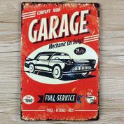 Retro Metal Tin Sign - Garage