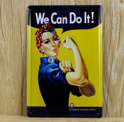 Retro Metal Tin Sign - We Can Do It