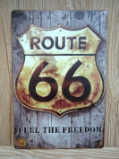Retro Metal Tin Sign - Route 66