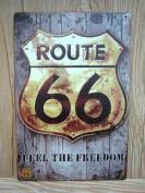 Retro Metal Tin Sign - Route 66