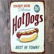 Retro Metal Tin Sign - Enjoy your Hot Dog