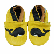 Whale Soft Sole Leather Baby Shoes