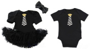 G & G - Cute Glitter Tie Matching Baby Boy Girl Twins Siblings Outfits