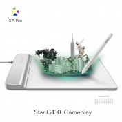 XP-Pen G430 10cm x 7.6cm Ultrathin Digital Tablet Graphic Drawing Tablet for Game OSU and Battery-free Stylus-designed! Gameplay(White)