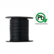 Round Leather Cord Black 3mm 5meters
