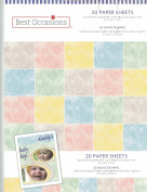 8.5x11 Pastel Parchment Paper Pack 20 Sheets Cardstock Rubber Stampin 65# lb.