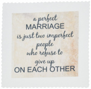 3dRose qs_180092_2 A Perfect Marriage, Black Lettering on Picture of Marble Print Background Quilt Square, 15cm by 15cm