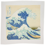 3dRose qs_155631_2 The Great Wave Off Kanagawa by Japanese Artist Hokusai-Dramatic Blue Sea Ocean Ukiyo-E Print 1830-Quilt Square, 15cm by 15cm