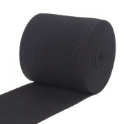 Cotowin 6.4cm Black Knit Heavy Stretch High Elasticity Elastic Band 4 Yards