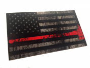 The Tattered and Burned Reflective Thin Red Line with Axe United States Flag Tactical Firefighter EMT Paramedics 3m Decal 9.5cm x 6.6cm Sticker