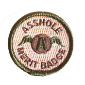 Multicam Asshole Merit Badge Tactical hook and loop Morale Patch