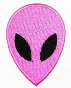 Pink Alien Patch Iron on Patch Embroidered Iron on Hat Jacket Hoodie Backpack Ideal for Gift /5.5cm(w) X 7.7cm