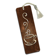 Coffee Cup Printed Bookmark with Tassel