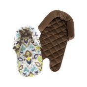 Eddie Bauer 2-in-1 Reversible Infant Head Support - Chocolate/Navajo Print